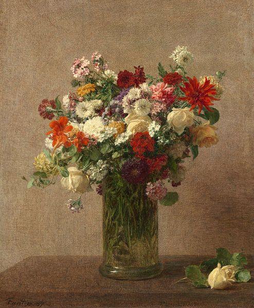 Blumen aus der Normandie, Henri Fantin-Latour von Meesterlijcke Meesters