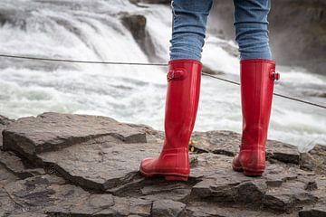 Rode laarzen van John Groen