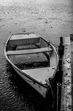 de oude roeiboot van Norbert Sülzner