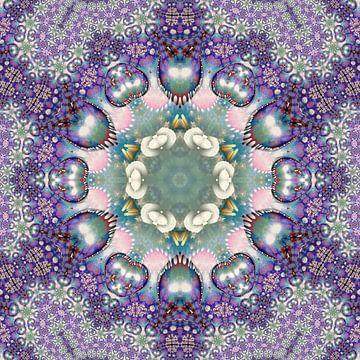 Lila Mandala der spirituellen Weisheit von Nina IoKa