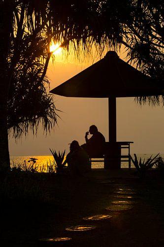 Sunset op Bali Indonesië  van