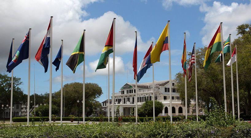 Presidentieel paleis te Paramaribo van Peter Reijners