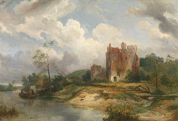 Paysage fluvial avec ruines, Wijnand Nuijen sur