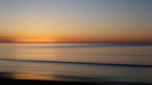 Zonsopkomst aan de Oostzee van Wil van der Velde/ Digital Art