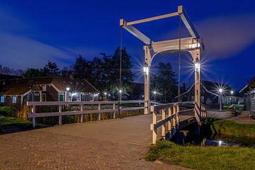 Zaanse Schans - Brücke - Blaue Stunde von Fotografie Ploeg