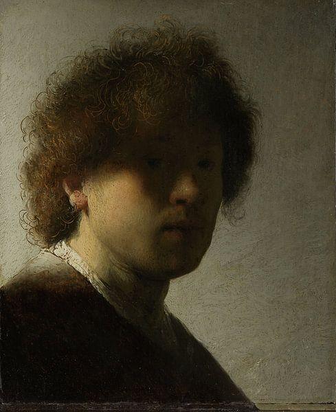 Selbstbildnis, Rembrandt Harmensz. van Rijn, ca. 1628 von Rembrandt van Rijn