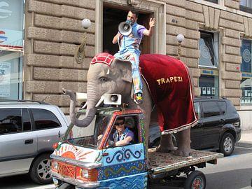 circus in de stad van Renée Teunis