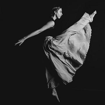 Balletdanser in zwartwit 05 van FotoDennis.com