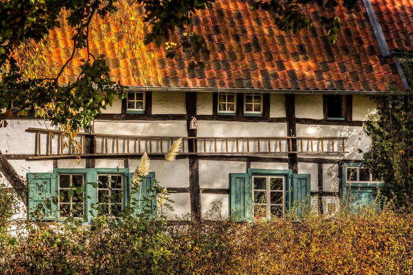 Vakwerkhuisje in Mechelen  van John Kreukniet
