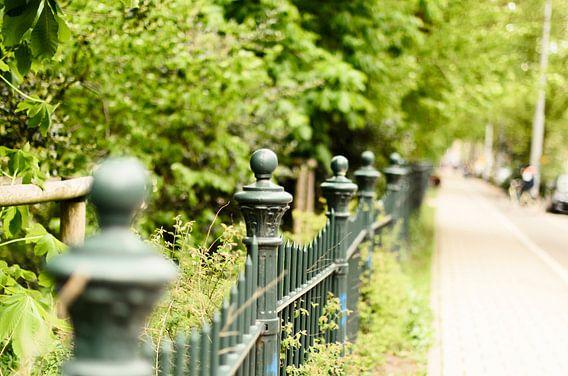 Het hek van het Sarphatipark Amsterdam. van Don Fonzarelli