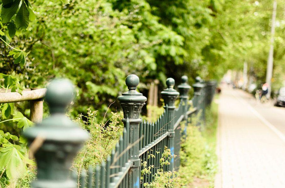 Het hek van het Sarphatipark Amsterdam.