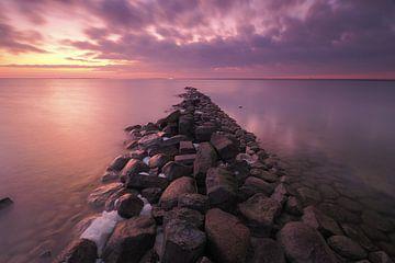 Sonnenuntergang auf dem IJsselmeer von Wilco Berga
