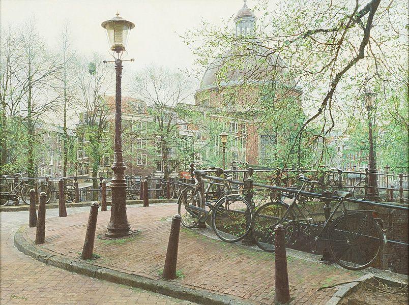 Schilderij: Ronde Lutherse Kerk, Amsterdam van Igor Shterenberg