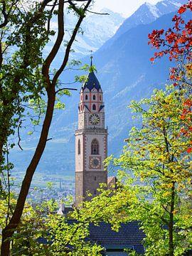 Turm der Pfarrkirche St. Nikolaus in Meran von Gisela Scheffbuch