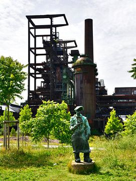 Stahlarbeiter van Edgar Schermaul