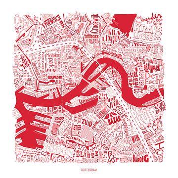 Rotterdam in rood wit, straatnamen en meer van Vol van Kleur