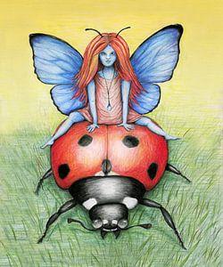 Eine Fahrt auf einem Marienkäfer