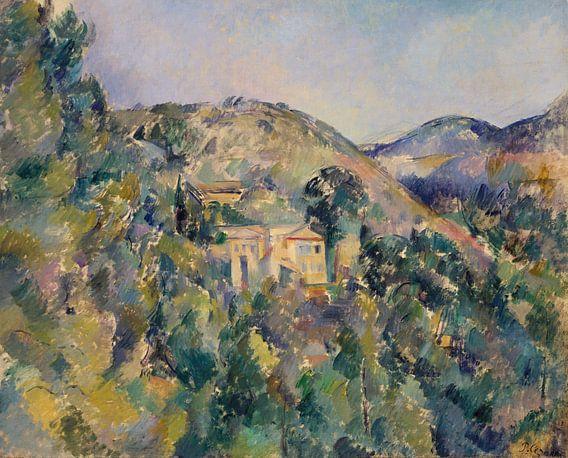 Paul Cézanne. Gezicht op Domaine Saint-Joseph van 1000 Schilderijen