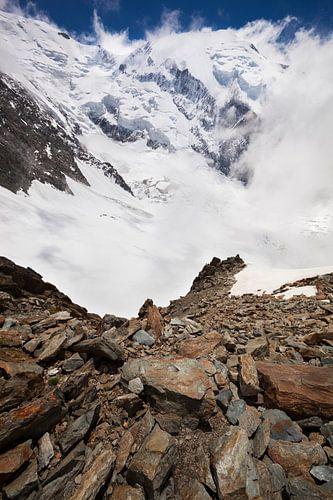 Berglandschap in de Alpen met Gletsjers en Sneeuw, Mont Blanc, Frankrijk  van Frank Peters