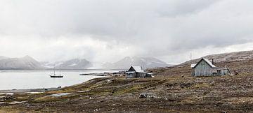 Oude vissershuisjes op Spitsbergen