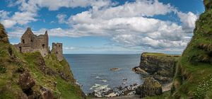 Dunluce kasteel in Noord Ierland
