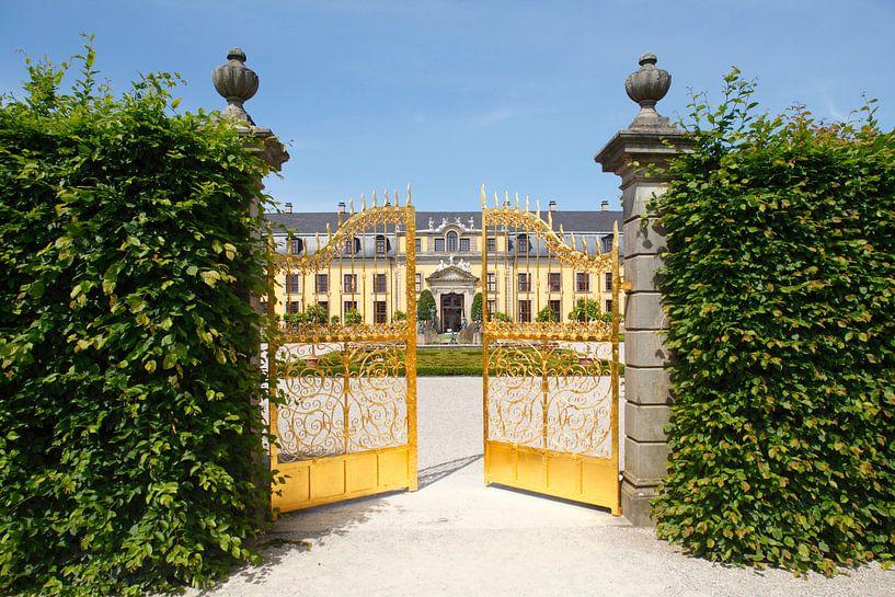 Großer Garten, Herrrenhausen, Goldenes Tor, Galeriegeb�ude, Hannover, Nedersaksen, Duitsland, europa van Torsten Krüger