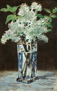 Weißes Flieder in einer Kristallvase, Édouard Manet