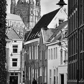 Die Waterstraat in Den Bosch in schwarz und weiß von Jasper van de Gein Photography