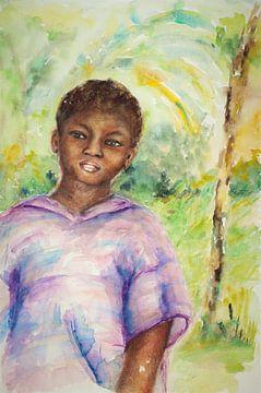 Gambiaans jongetje van Ineke de Rijk