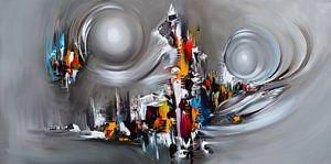 Abstrakte Welt von Gena Theheartofart