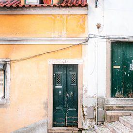De groene deur van Lissabon van Raisa Zwart