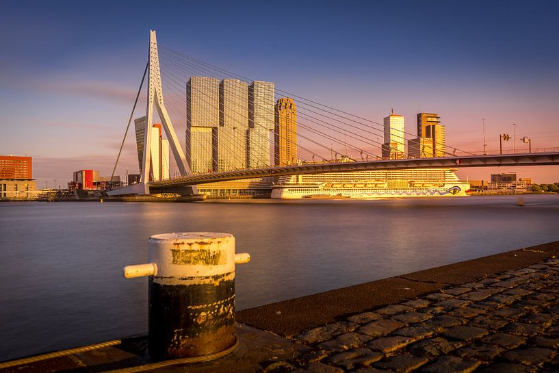 Erasmusbrug Sunset van Dennis Donders