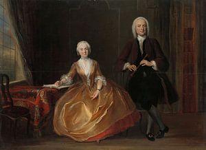 Musicerend paar - Cornelis Troost