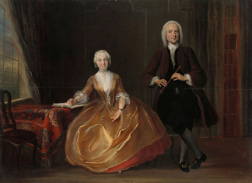 Musicerend paar - Cornelis Troost van Marieke de Koning