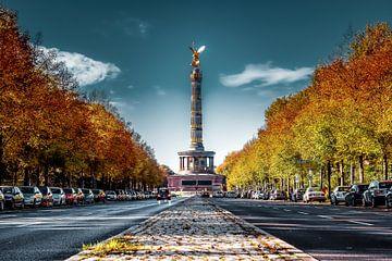 Berlin Siegessäule im Herbst von Munich Art Prints