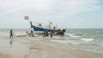 Stoere paarden in de zee  sur Jan Iepema