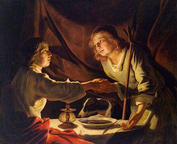 Esau verkauft Jakob das Erstgeburtsrecht oder das Linsengericht, Matthias Stomer