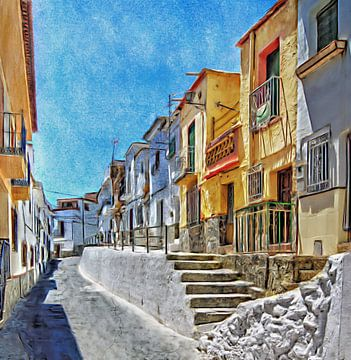 Órgiva Alta, Andalucia, Spanje van Atelier Liesjes