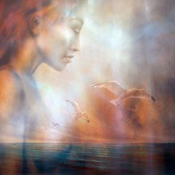 Jana droomt: Uitzicht op zee met meeuwen