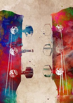 Gitaar 6 muziekkunst #gitaar #muziek van JBJart Justyna Jaszke