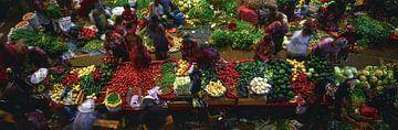 Markt Chichicastenango van Wilfried-Reinhard Köhn