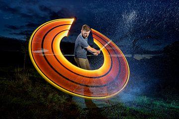 Lichtmalerei Golfsport von Liesbeth van Asselt