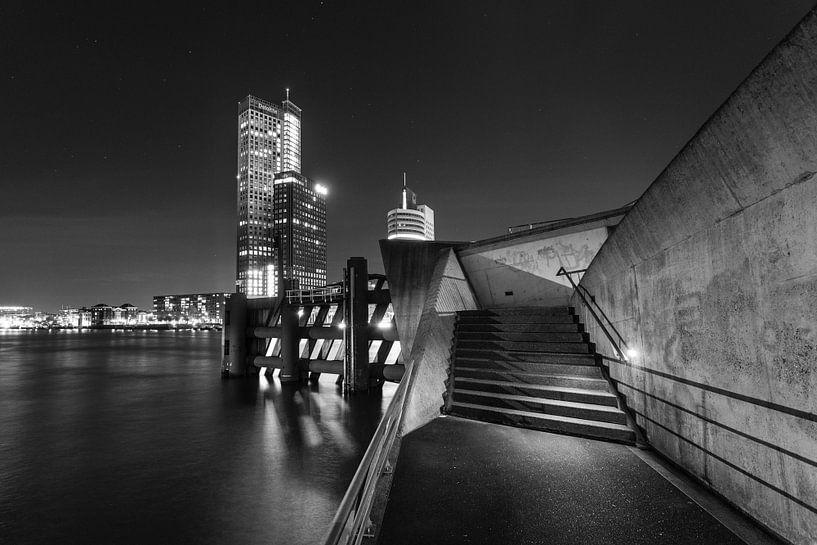 Nighttime in Rotterdam van Dion van den Boom