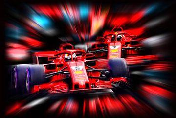 Vettel und Räikkönen von Jean-Louis Glineur alias DeVerviers