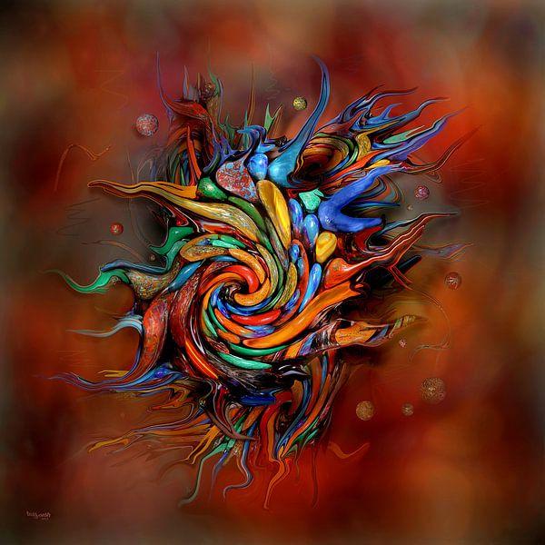 Art abstrait coloré sur Stefan teddynash