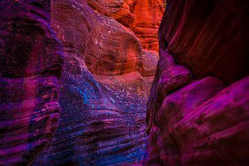 Bunte Felsen in Utah von Theo van Woerden