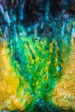 Groen over geel, onder blauw. van Robert Wiggers