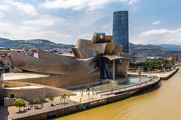 Guggenheim museum in Bilbao van Easycopters
