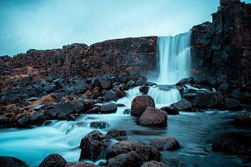 Waterval IJsland van Daan Nieuwland