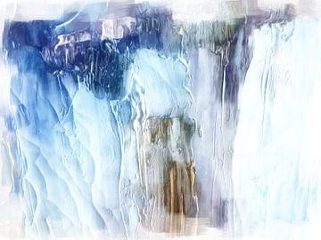 Abstract in blauwe tinten